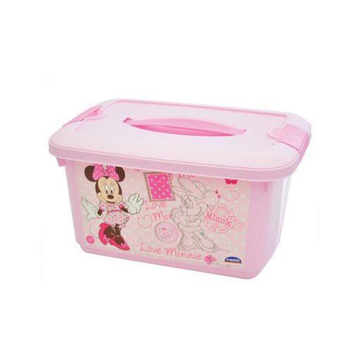 Caixa com alça e trava Minnie baby 5,2 litros - Plasútil