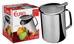 Jarra com aparador de gelo inox 2 litros - Euro Home