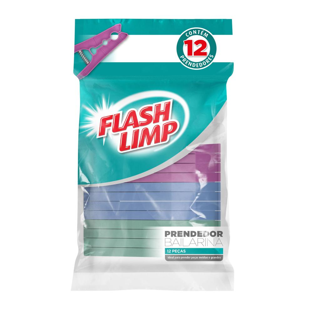 Prendedor bailarina 12 peças - Flash Limp
