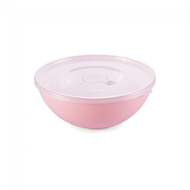 Bowl Duo 360 com tampa 600ml rosa