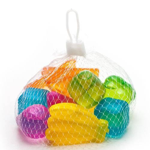 Kit 10 cubos gelo artificial ecológico colorido reutilizável - Clink