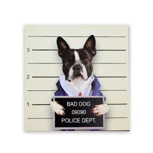 Quadro decorativo cachorro estampas diversas 24x20 - FWB