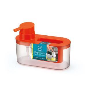 Dispenser para detergente e bucha laranja
