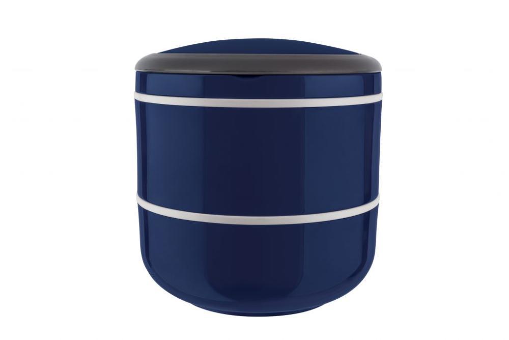 Marmita lunch box para micro-ondas dupla azul - Euro Home
