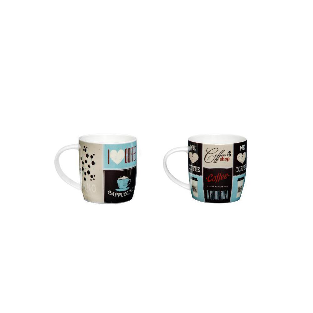 Caneca porcelana decorada coffe café 340ml estampa sortidas