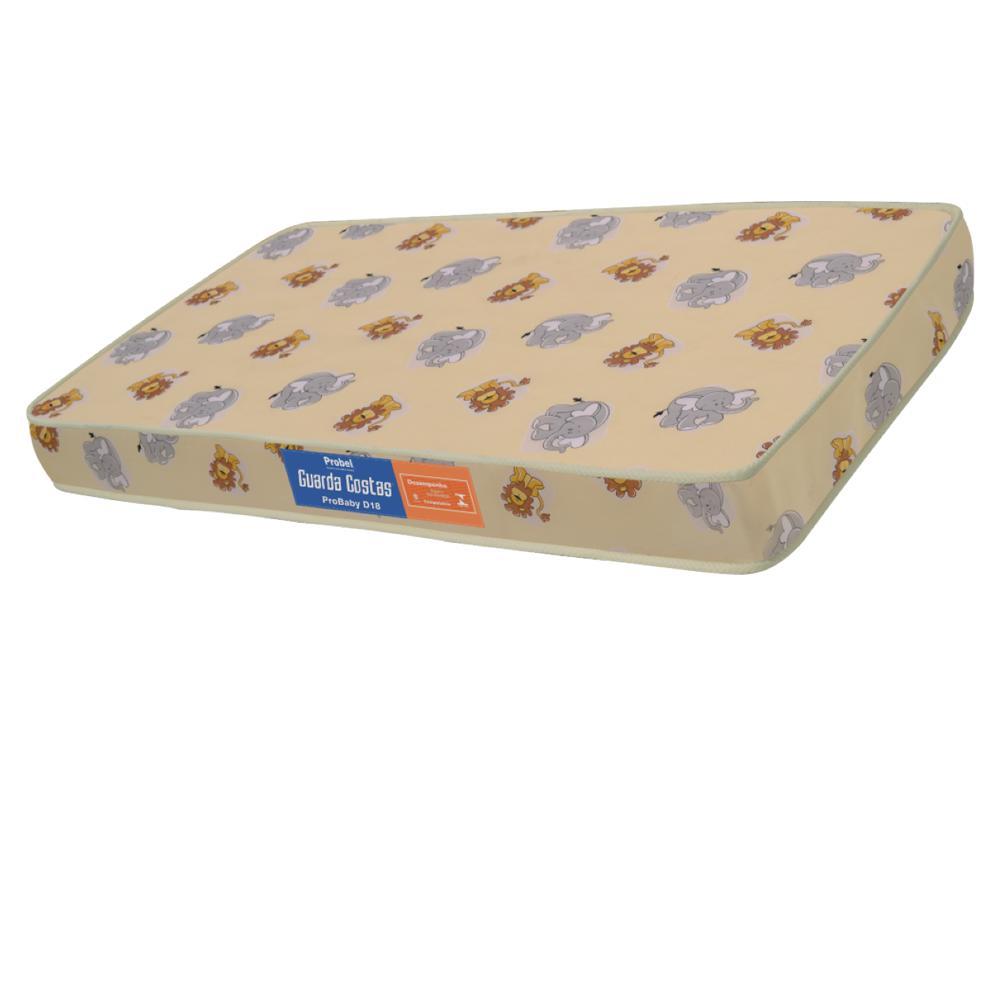 Colchão de Berço Espuma Probel Guarda Costas Pro Baby D18 Liso (70x140x12cm)