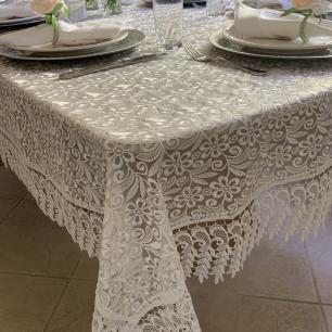 Toalha de Mesa Bordada Retangular 1.70 x 2.20m Provence