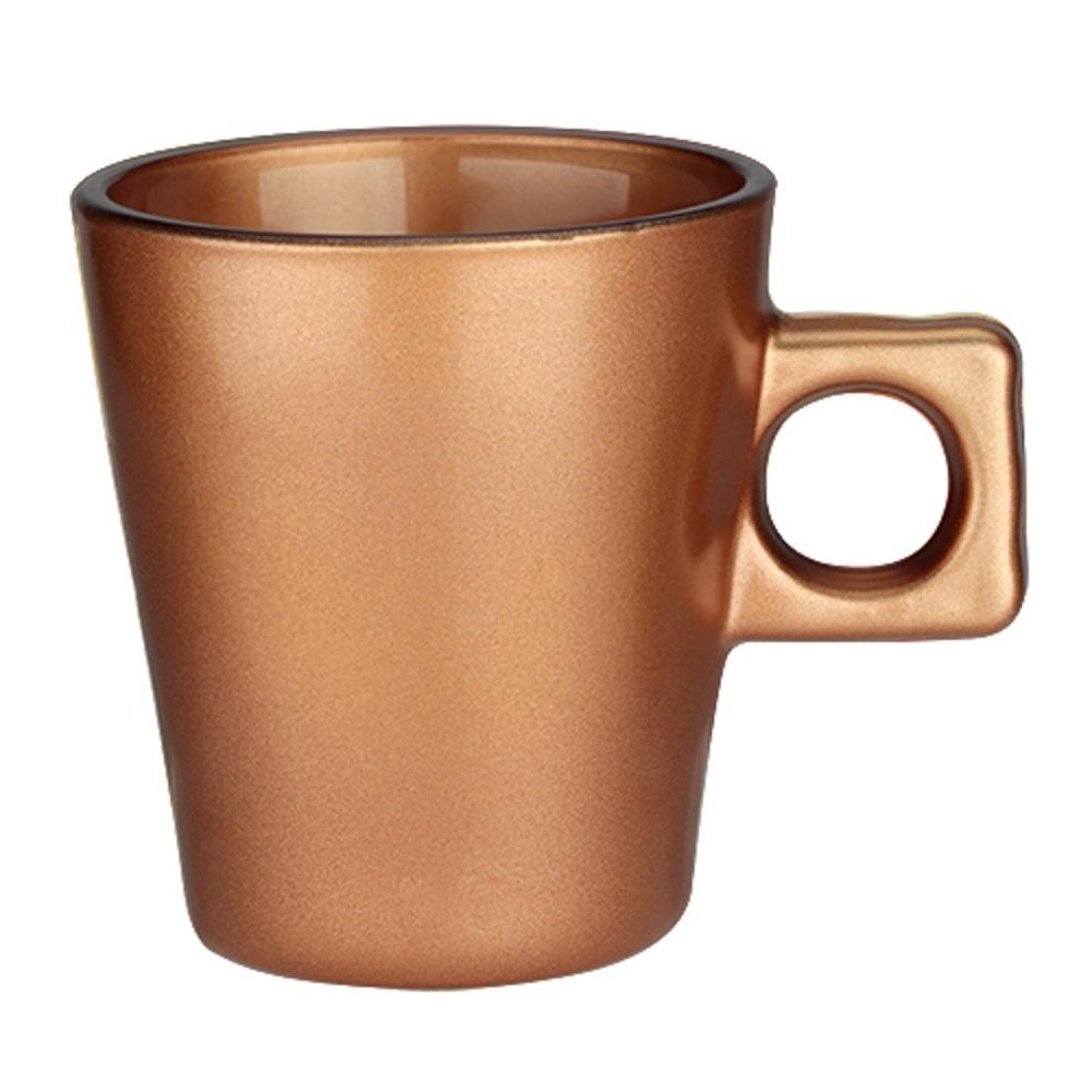 Jogo 4 Xícaras Plain Coffe Time 80ml Marrom
