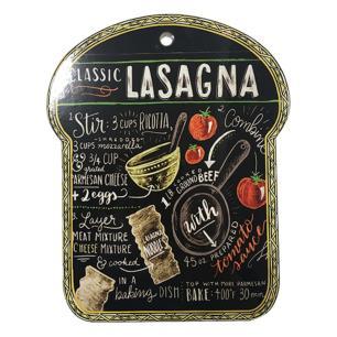 Descanso de Panela Decorativo em Cerâmica Lasagna