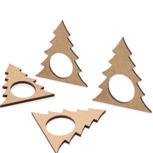 Anel de Guardanapo 4 pçs Christmas Árvore de Natal