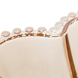Bowl Cristal Coração Pearl Ambar 19 x 15 x 6 cm Wolff