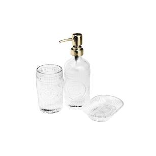 Conjunto Lux Dourado para Banheiro - 3 peças