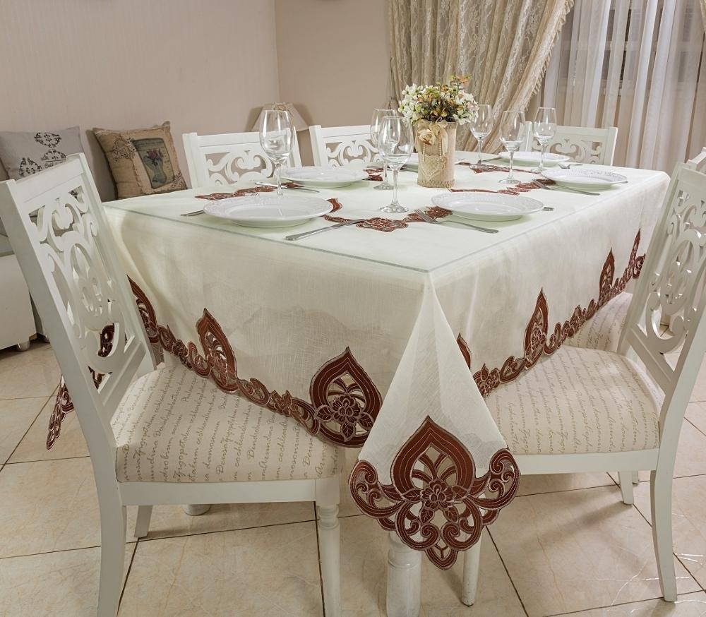 Toalha de Mesa Bordada Retangular 1.70 x 3.20m Havana Casa Argivai