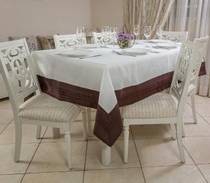 Toalha de Mesa em Plisse Quadrada 2.20 x 2.20m Andaluzia Casa Argivai