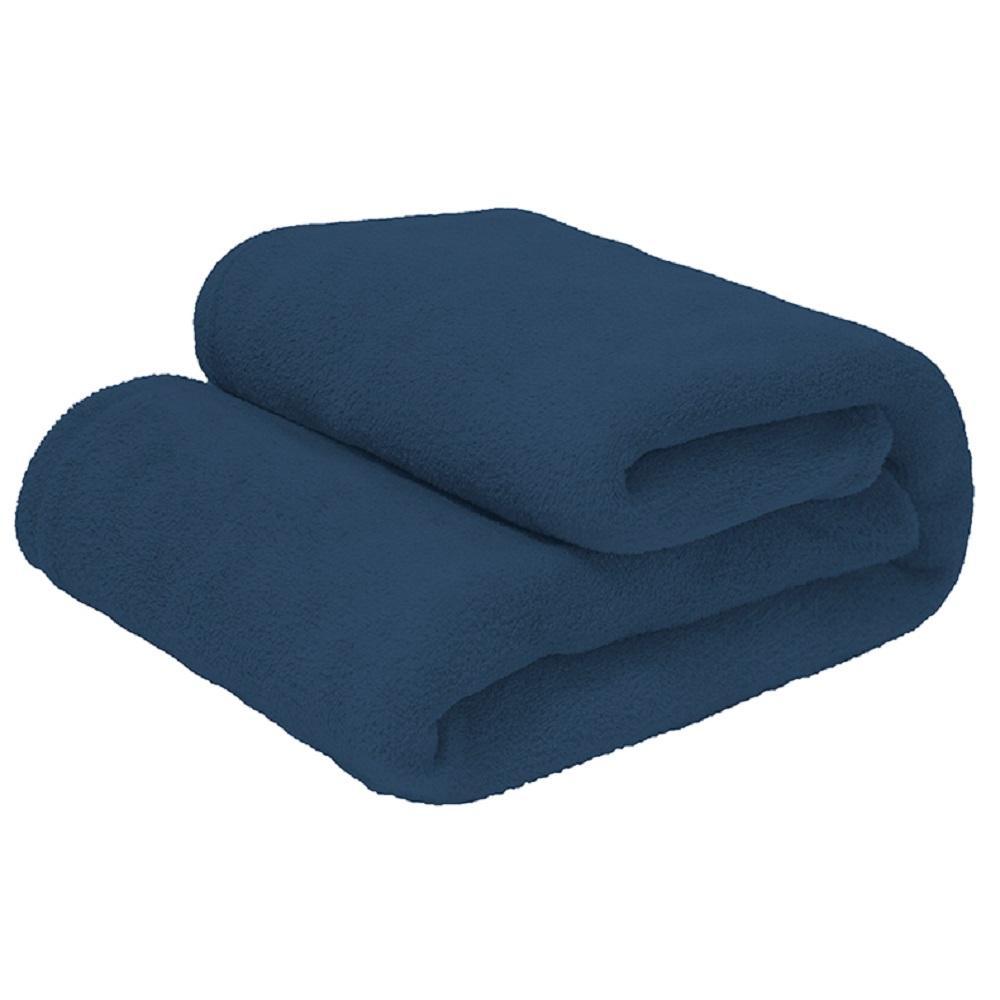 Manta Microfibra Solteiro Azul Infinity 180g Camesa