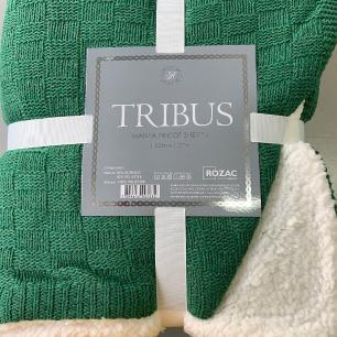 Manta Tricot com Sherpa Tribus Verde