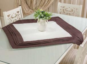 Toalha de Mesa em Plisse Quadrada 0.85 x 0.85m Andaluzia Casa Argivai