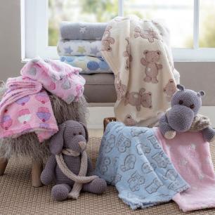 Manta Baby Confort Azul Carrinhos