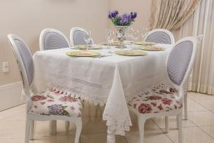 Toalha de Mesa Rendada Retangular 1.70 x 3.20m Mallorca