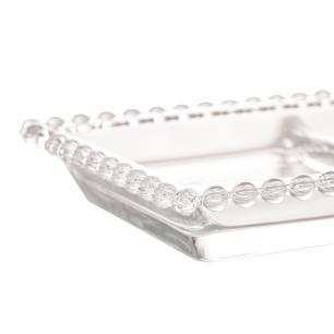 Petisqueira Cristal com 3 divisões Pearl 30 x 13 x 3 Wolff