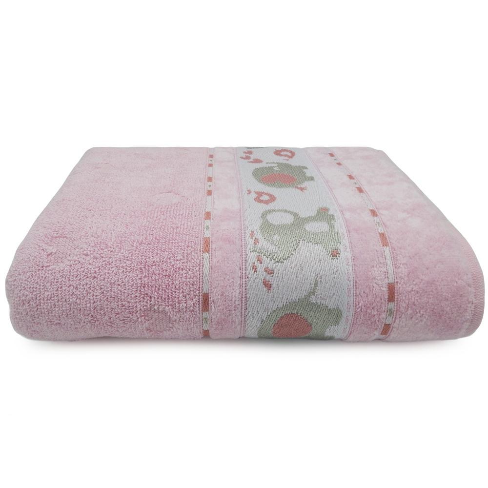 Toalha de Banho Soft Baby Rosa Cintilante