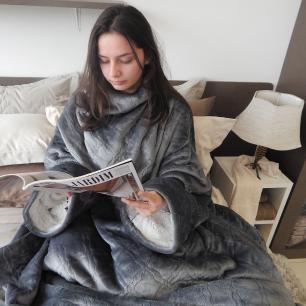 Cobertor - Manta com Mangas Glamour Sherpa Rose 1.35 x 1.70m - Appel