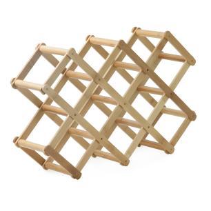 Adega Retrátil de Bambu para 8 Garrafas