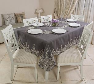 Toalha de Mesa Bordada Retangular 1.70 x 2.70m Ibiza Casa Argivai