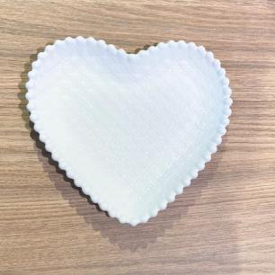 Bandeja Coração Cerâmica  Médio 20 x 17 x 2 cm