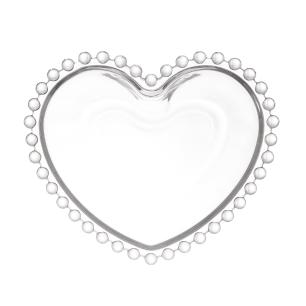 Jogo 4 Bowls de Cristal Coração Pearl 12 x 10 x 4 cm Wolff