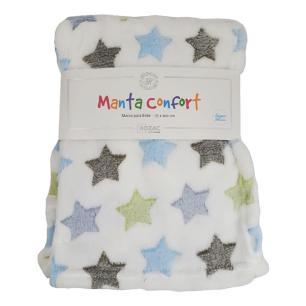 Manta Baby Confort Colorida Estrelas