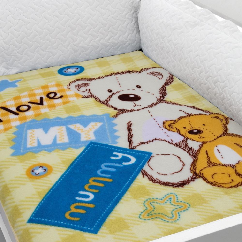 Cobertor Para Berço Baby Soft Urso