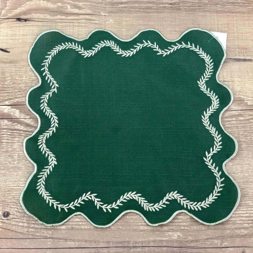 Jogo 4 Guardanapos Alecrim Verde Musgo 35 x 35cm
