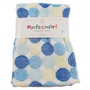 Manta Baby Confort Branco Bolinhas