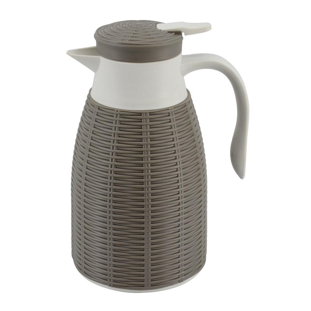 Garrafa Térmica Rattan 1 litro Cinza