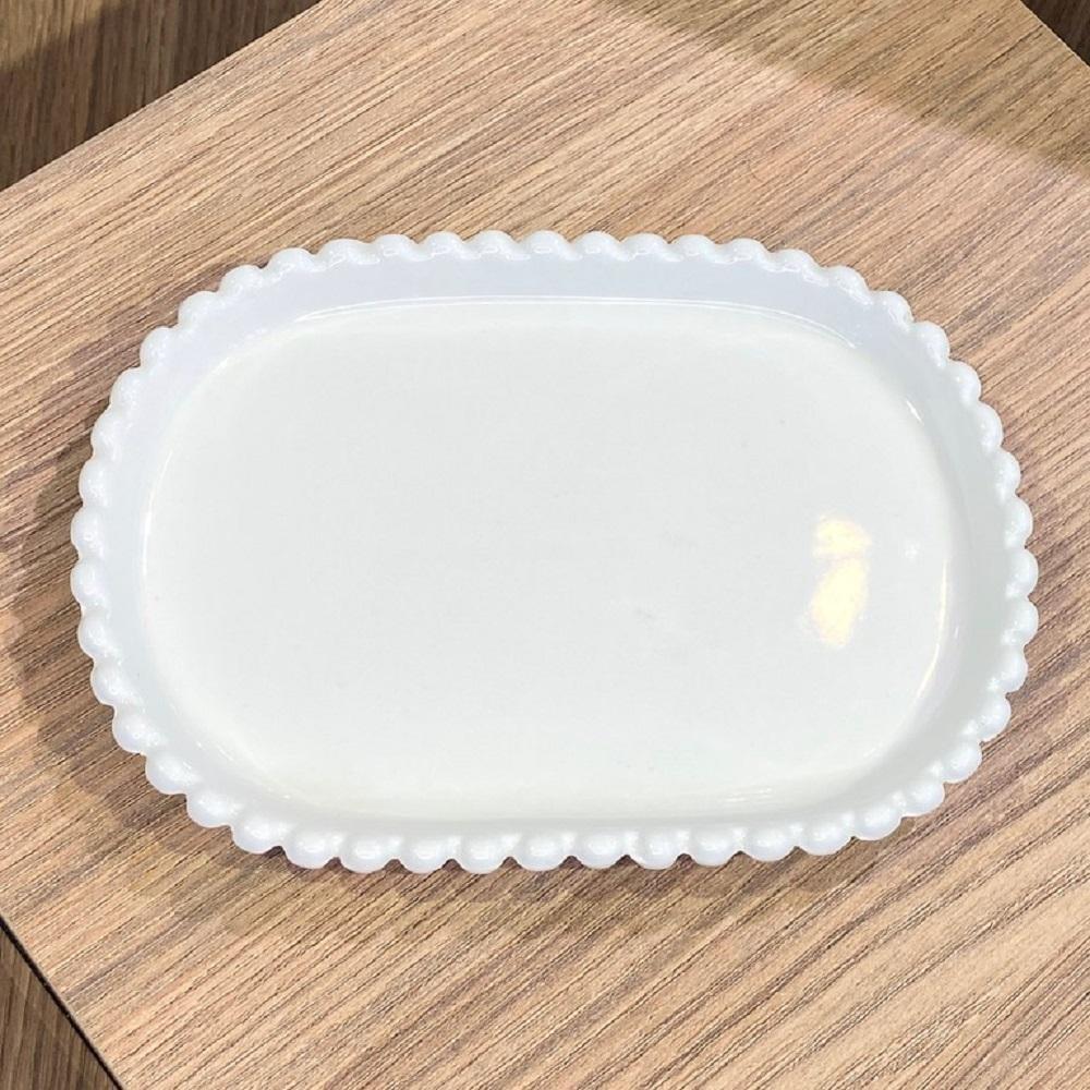 Bandeja Oval Cerâmica 19 x 13.5 x 2 cm