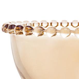 Jogo 4 Bowls Cristal Pearl Ambar 14 x 8 cm Wolff
