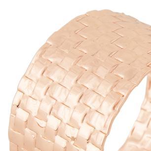Anel de Guardanapo Trançado Rosê Gold - 4 peças