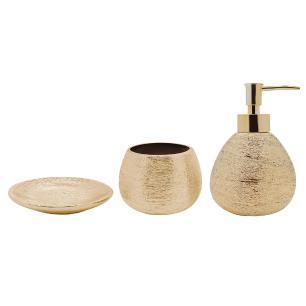 Conjunto de Banheiro Lunar Dourado