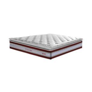Conjunto Cama Box Casal de Molas Ensacadas D33 com Pillow TOP Cama inBox Select 138x188x71 Vinho