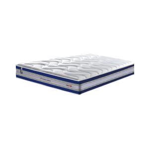 Conjunto Cama Box Casal de Molas Ensacadas D33 Cama inBox Select Firme 138x188x71 Azul