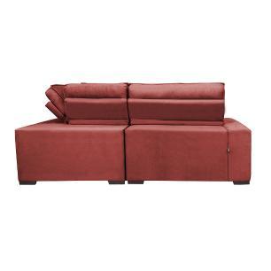 Sofa de Canto Retrátil e Reclinável com Molas Cama inBox Austin 2,60m x 2,60m Suede Velusoft Vermelho