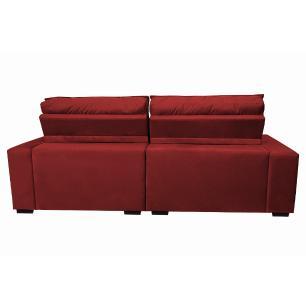 Sofá Retrátil e Reclinável com Molas Ensacadas Cama inBox Gold 2,12m Tecido Suede Velusoft Vermelho