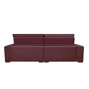 Sofá Magnum 3,02m Retrátil, Reclinável com Molas no Assento e Almofadas Lombar Tecido Suede Velusoft Vinho - Cama InBox