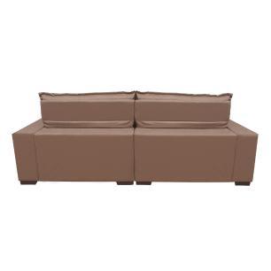 Sofá 2,52m Retrátil e Reclinável com Molas Cama inBox Plus Tecido Suede Velusoft Bege