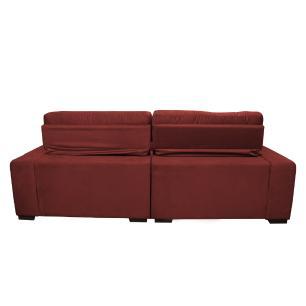 Sofá 2,82m Retrátil e Reclinável com Molas Cama inBox Confort Tecido Suede Velusoft Vermelho