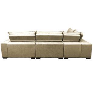 Sofa de Canto Retrátil e Reclinável com Molas Cama inBox Oklahoma 3,85X2,64 ou 2,64X3,85 Bege