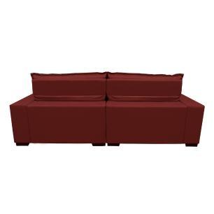 Sofá 2,72m Retrátil e Reclinável com Molas Cama inBox Plus Tecido Suede Velusoft Vermelho