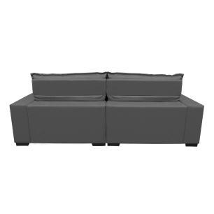 Sofá 2,72m Retrátil e Reclinável com Molas Cama inBox Plus Tecido Suede Velusoft Cinza