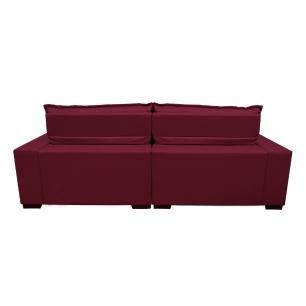 Sofá 2,62m Retrátil e Reclinável com Molas Cama inBox Plus Tecido Suede Velusoft Vinho